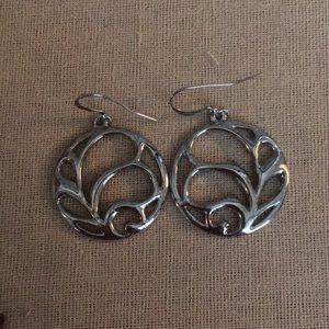 Silver Cutout Earrings